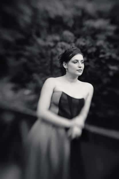 Portret Lavinia Raducanu alb-negru