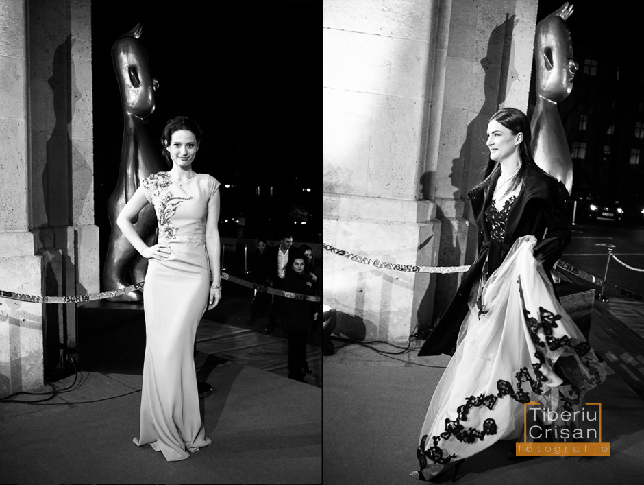 Actrita Ioana Flora (dreapta) soseste la Premiile Gopo 2013